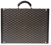 Vintage Black Goyardine Hard Briefcase