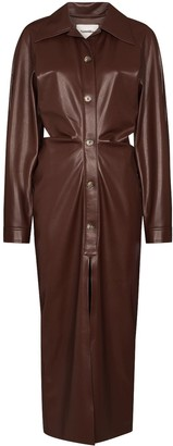 Nanushka Sami faux-leather shirt dress