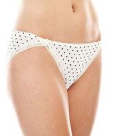 JCPenney Ambrielle Lace-Trim Microfiber Bikini Panties