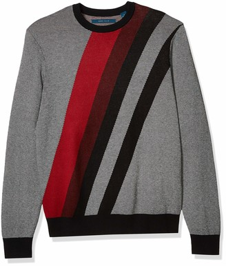 Perry Ellis Men's Bold Stripe Long Sleeve Sweater