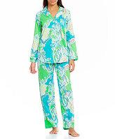 Lauren Ralph Lauren Paisley Sateen Classic Pajamas