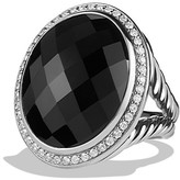 David Yurman Oval Ring with Black Onyx and Diamonds