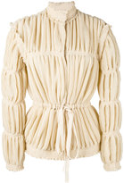 J.W.Anderson pleated jacket - women - Silk/Polyester/Acetate/Viscose - 6
