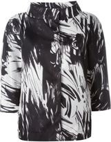 Herno abstract printed jacket - women - Polyamide/Polyester/Polyurethane - 40
