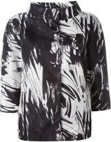 Herno abstract printed jacket - women - Polyester/Polyamide/Polyurethane - 40