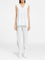DKNY V-Neck Shirt With Layered Open Back