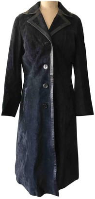 Non Signé / Unsigned Non Signe / Unsigned Blue Suede Coat for Women
