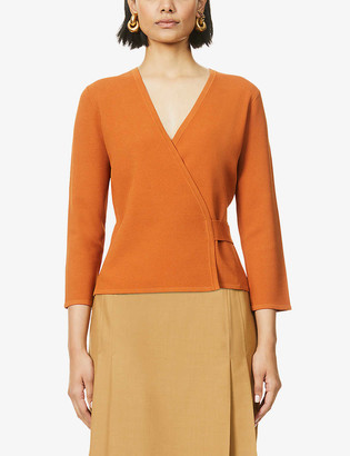 Diane von Furstenberg Landon V-neck wrap stretch-jersey cardigan