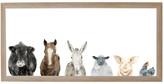 "Petal Lane ""Farm Animals"" Magnet Board With Brown Frame, 6""x12"""