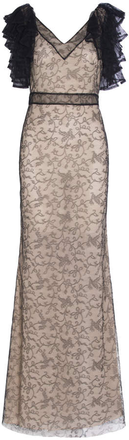 Alexander McQueen Ruffled Lace Gown