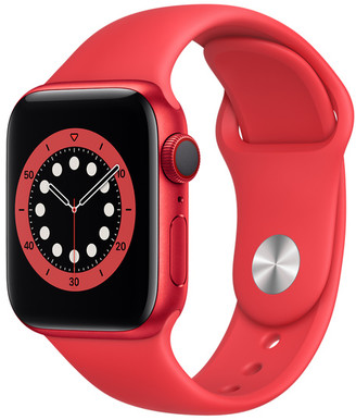 Apple Watch Series 6 GPS + Cellular, 40mm PRODUCT(RED) Aluminum Case with PRODUCT(RED) Sport Band - Regular