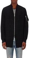 R 13 Men's Cotton-Blend Flight Jacket-BLACK
