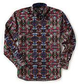 Visconti Big & Tall Paisley Jacquard Long-Sleeve Woven Shirt