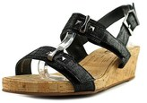 VANELi Kami Women W Open Toe Synthetic Black Wedge Sandal.