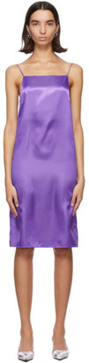 Kwaidan Editions Purple Satin Slip Dress