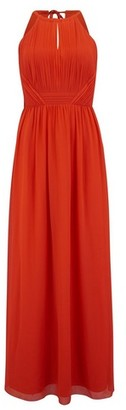 Dorothy Perkins Womens Little Mistress Red Pleated Maxi Dress, Red
