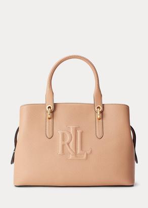Ralph Lauren Hayward Leather Medium Satchel
