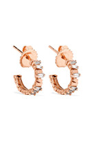 Suzanne Kalan 18-karat Rose Gold Diamond Earrings - one size