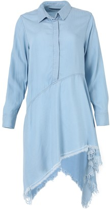 Marques Almeida Light Blue Wash Asymmetric Shirt Dress