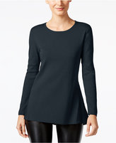 Alfani Petite Ribbed Peplum Sweater, Only at Macy's