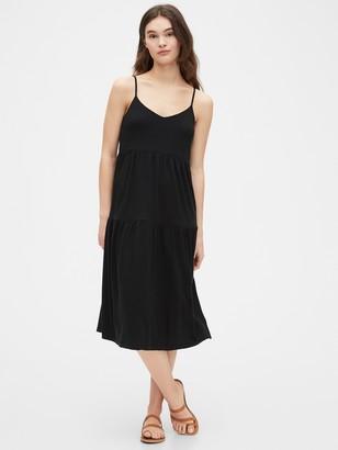 Gap Tiered Cami Midi Dress in Modal Cotton