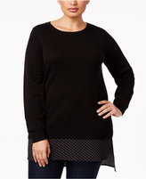 MICHAEL Michael Kors Size Layered-Look Tunic Sweater