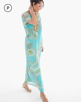 Chico's Cold-Shoulder Paisley Sienna Maxi Dress