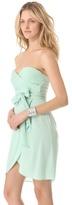 Catherine Malandrino Strapless Dress with Belt