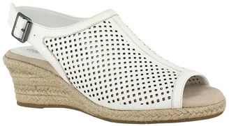 Easy Street Shoes Stacy Perforated Wedge Sandal - Multiple Widths Available
