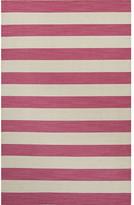Breakwater Bay Rosebank Pink & Ivory Stripe Area Rug Rug