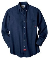 Dickies Men's Big-Tall Long Sleeve Denim Work Shirt