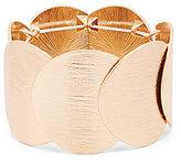 Natasha Accessories Brushed Disc Stretch Bracelet