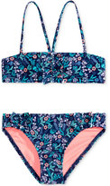 Roxy 2-Pc. Beach Bound Bandeau Bikini Set, Little Girls (4-6X)