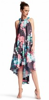Aidan Mattox Pastel Floral Embellished High-low Cocktail Dress