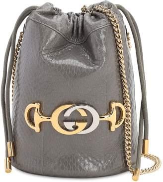 Gucci ZUMI SNAKESKIN BUCKET BAG