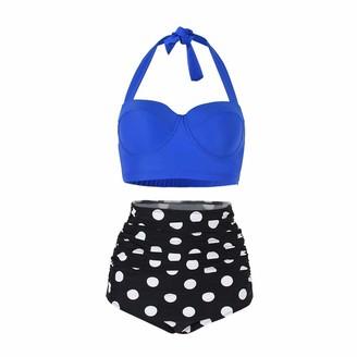 Chaychax Yooeen Women Vintage Swimsuits High Waisted Retro Polka Dot Bikini Set Bathing Suits Two Piece