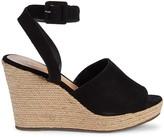 Schutz Kenna Suede Wedge Espadrille Sandals