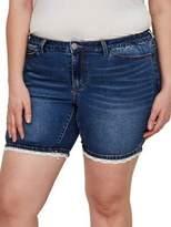 Junarose Plus Crochet Trim Denim Shorts