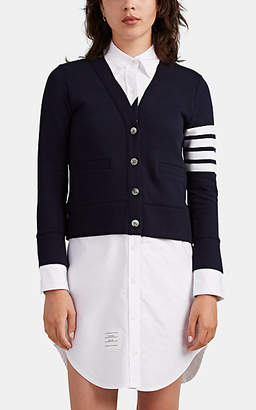 Thom Browne Women's Cotton French Terry & Oxford Cloth Shirtdress - Navy