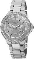 Akribos XXIV Womens Silver Dial Silver-Tone Bracelet Watch
