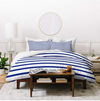 Deny Designs Holli Zollinger Nautical Stripe Twin Duvet Set Bedding