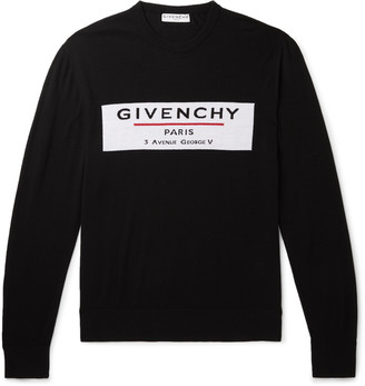 Givenchy Logo-Intarsia Merino Wool Sweater