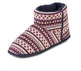 totes Men's Fairisle Knit Bootie Hi-Top Slippers,L 43/44 EU