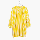 Madewell Gingham Tunic Dress