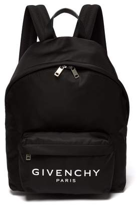 Givenchy Urban Leather Trimmed Backpack - Mens - Black White