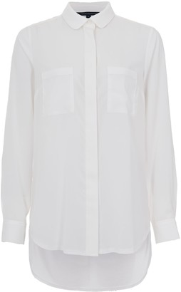 French Connection Polly Plains Pocket Detail Shirt, Summer White