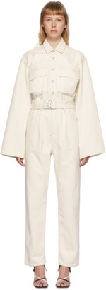 AGOLDE Off-White Denim Tatum Jumpsuit