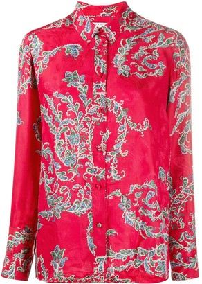 Sandro Floral Long-Sleeve Shirt