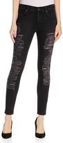 True Religion Halle Super Skinny Jeans in Dark Grey Shadow