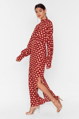 Nasty Gal Womens Geo Floral Tierred Smock Dress - Gold
